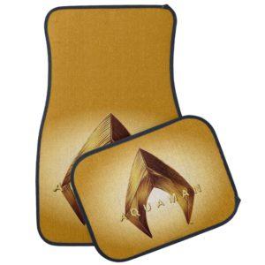 Aquaman | Golden Aquaman Logo Car Floor Mat
