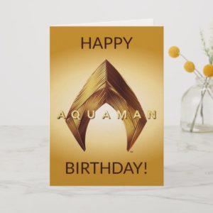 Aquaman | Golden Aquaman Logo Card