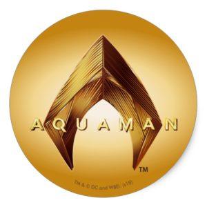 Aquaman | Golden Aquaman Logo Classic Round Sticker