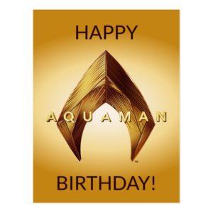 Aquaman | Golden Aquaman Logo Postcard