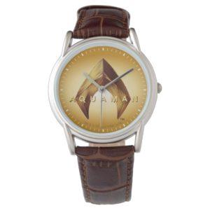 Aquaman   Golden Aquaman Logo Watch
