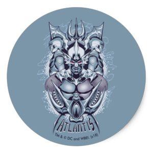 Aquaman | King Orm of Atlantis Graphic Classic Round Sticker