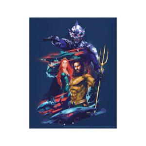 Aquaman | King Orm Versus Mera & Aquaman Canvas Print