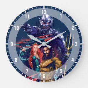 Aquaman | King Orm Versus Mera & Aquaman Large Clock