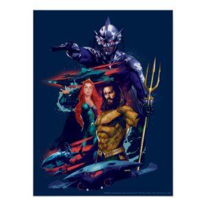Aquaman | King Orm Versus Mera & Aquaman Poster