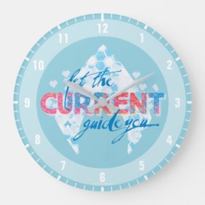 "Aquaman | ""Let The Current Guide You"" Logo Graphic Large Clock"