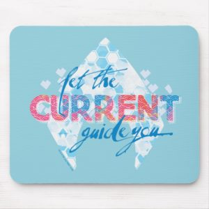 """Aquaman   """"Let The Current Guide You"""" Logo Graphic Mouse Pad"""