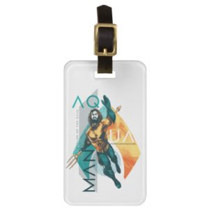 Aquaman | Modernist Aquaman Collage Bag Tag