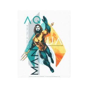 Aquaman | Modernist Aquaman Collage Canvas Print