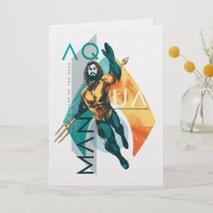 Aquaman | Modernist Aquaman Collage Card