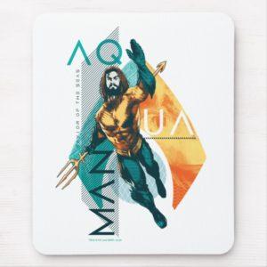 Aquaman   Modernist Aquaman Collage Mouse Pad
