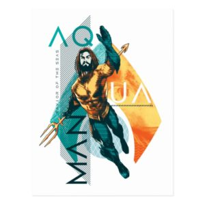 Aquaman   Modernist Aquaman Collage Postcard