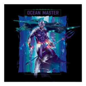Aquaman | Ocean Master King Orm Refracted Graphic Poster