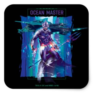 Aquaman | Ocean Master King Orm Refracted Graphic Square Sticker