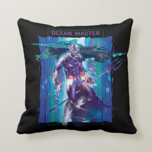 Aquaman   Ocean Master King Orm Refracted Graphic Throw Pillow