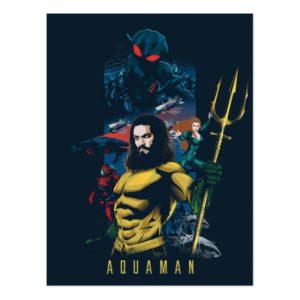 Aquaman   Orin, Mera, and Black Manta Graphic Postcard