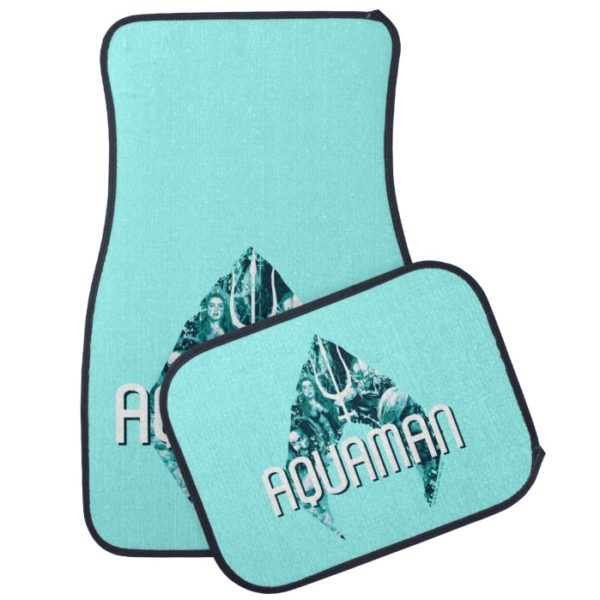 Aquaman   Orin, Mera, Orm & Black Manta In Symbol Car Floor Mat