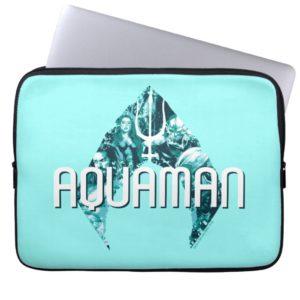 Aquaman | Orin, Mera, Orm & Black Manta In Symbol Computer Sleeve