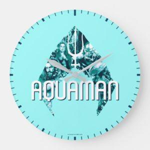 Aquaman   Orin, Mera, Orm & Black Manta In Symbol Large Clock