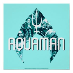 Aquaman | Orin, Mera, Orm & Black Manta In Symbol Poster