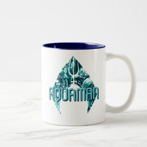 Aquaman | Orin, Mera, Orm & Black Manta In Symbol Two-Tone Coffee Mug