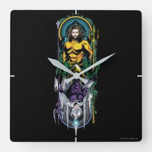 Aquaman | Orin & Orm Reversible Art Nouveau Panel Square Wall Clock