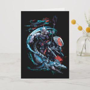 Aquaman | Orm, Black Manta, Tylosaur, & Ships Card