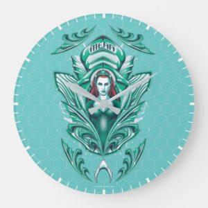 Aquaman | Ornate Mera Graphic Large Clock