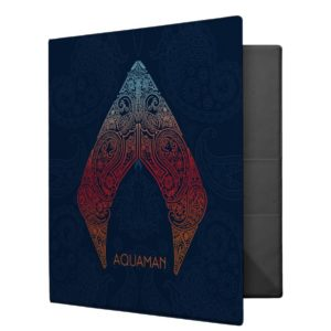 Aquaman | Paisley Aquaman Logo 3 Ring Binder