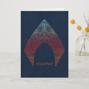 Aquaman | Paisley Aquaman Logo Card