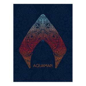 Aquaman | Paisley Aquaman Logo Postcard