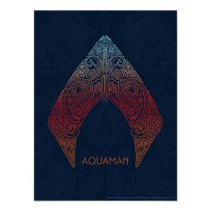 Aquaman | Paisley Aquaman Logo Poster
