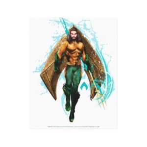 Aquaman | Prince Orin With Aquaman Logo Canvas Print