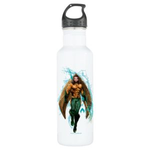 Aquaman   Prince Orin With Aquaman Logo Stainless Steel Water Bottle