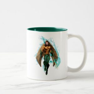 Aquaman | Prince Orin With Aquaman Logo Two-Tone Coffee Mug
