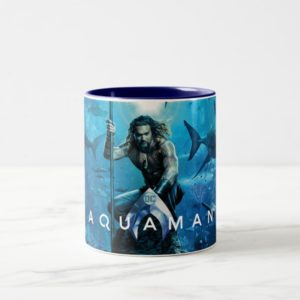 Aquaman | Prince Orin With Aquatic Animals Two-Tone Coffee Mug