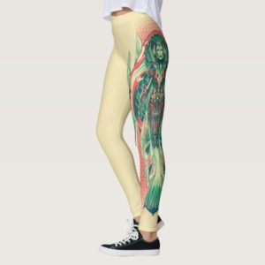 Aquaman | Queen Fisherman Art Nouveau Panel Leggings