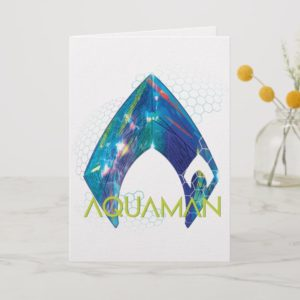 Aquaman | Refracted Aquaman Logo Card