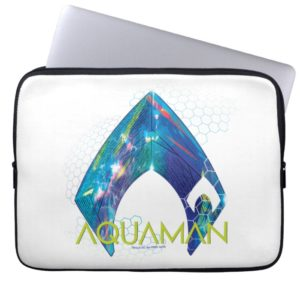 Aquaman | Refracted Aquaman Logo Computer Sleeve