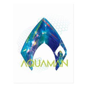 Aquaman | Refracted Aquaman Logo Postcard