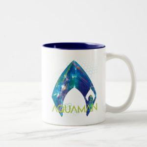 Aquaman | Refracted Aquaman Logo Two-Tone Coffee Mug