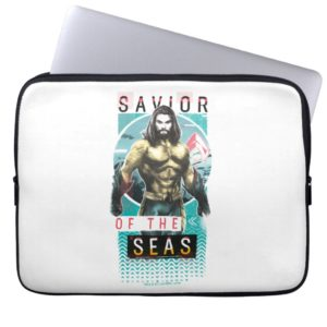 "Aquaman | ""Savior Of The Seas"" Modernist Graphic Computer Sleeve"