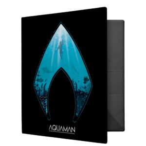 Aquaman | See Through Aquaman Logo Ocean Graphic 3 Ring Binder