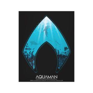 Aquaman | See Through Aquaman Logo Ocean Graphic Canvas Print