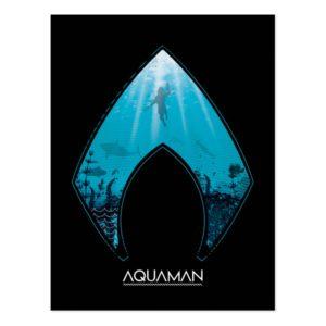 Aquaman | See Through Aquaman Logo Ocean Graphic Postcard