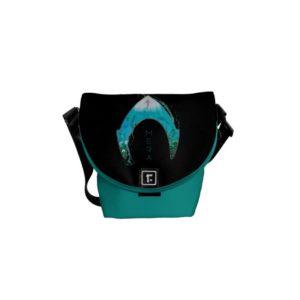 Aquaman | See Through Mera Symbol Ocean Graphic Courier Bag