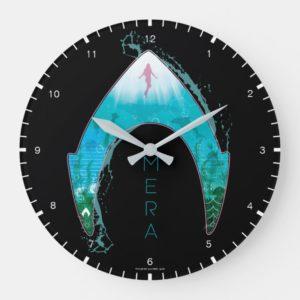 Aquaman | See Through Mera Symbol Ocean Graphic Large Clock