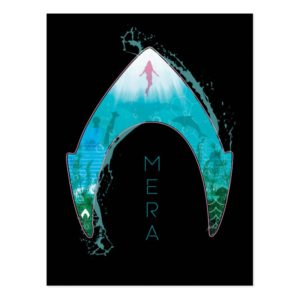 Aquaman | See Through Mera Symbol Ocean Graphic Postcard