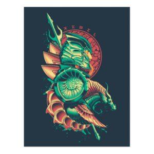 Aquaman   Xebel King Nereus Graphic Postcard