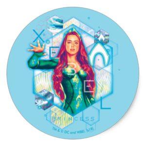 Aquaman | Xebel Princess Mera Hexagonal Graphic Classic Round Sticker